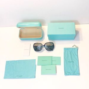 Tiffany & Co Sunglasses With Case Crystal Sides